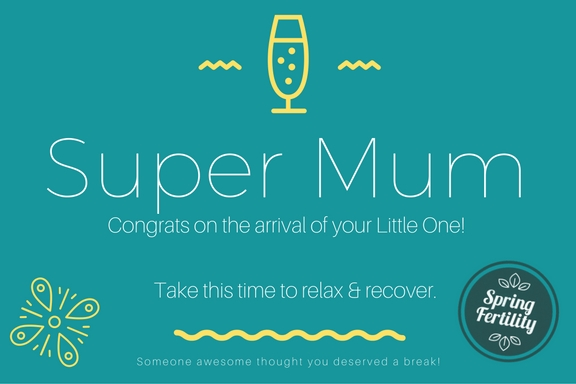 Congratulations to a New Mum - Gift Certificate